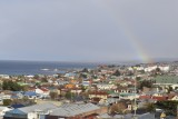 Un arcoiris en el siempre cambiante tiempo de Punta Arenas.  <br/><br/>A rainbow in the always changing weather of Punta Arenas